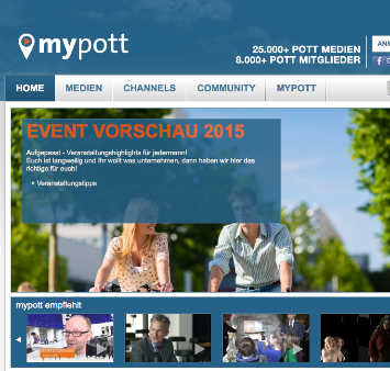 Screenshot von mypott