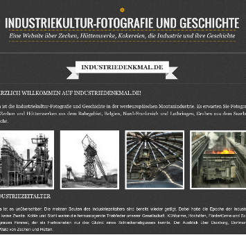 Screenshot von Industriedenkmal.de