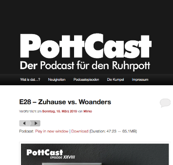 Screenshot von PottCast