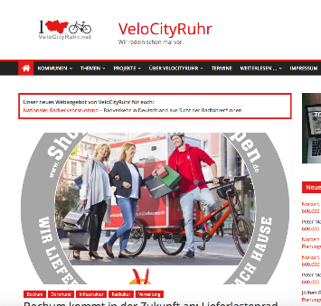 Screenshot von VeloCityRuhr